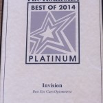 2014 The Roanoker Best Eyecare Platinum