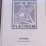 2014 The Roanoker Best Optical Shop Platinum