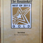 2015 The Roanoker Best EyeCare Gold