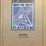 2015 The Roanoker Best Optical Platinum