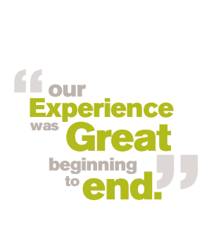 Our experience was great beginning to end.