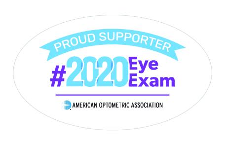 AOA #2020 Eye Exam Supporter Badge